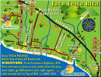 Contact Information For Hotel Vista Pacifico With Maps Hotel Vista